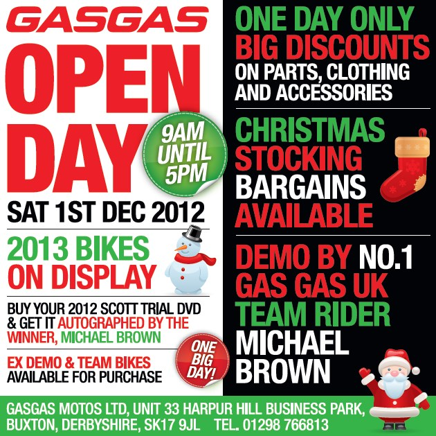 2012 gas gas open day