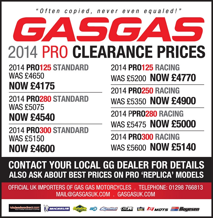 gas gas sale sep 2014
