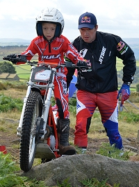 Jasper Walshaw At 2014 Dougie Lampkin Trials School 3